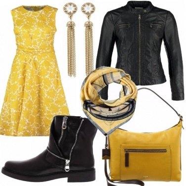 Outfit Chic con una punta di rock!