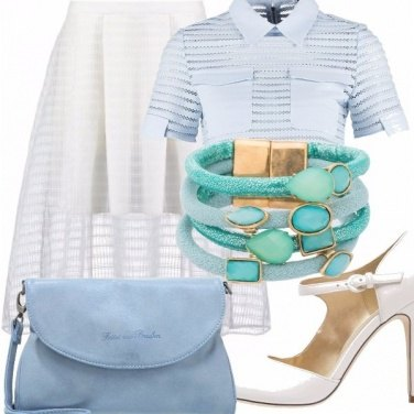 Outfit Bianco, e azzurro cielo!