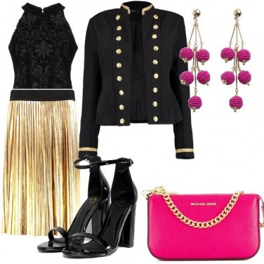Outfit Gold and pink