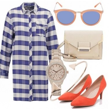 Outfit Orange/check