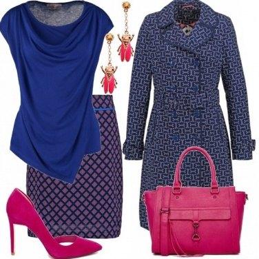 Outfit Blu e fuxia