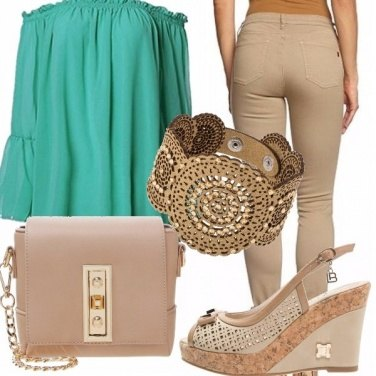 Outfit Beige e verde!