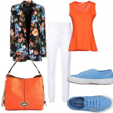Outfit Sporty chic colorato