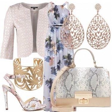 Outfit Fiori e pitone