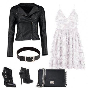 Outfit L\'abito bianco ed il chiodo