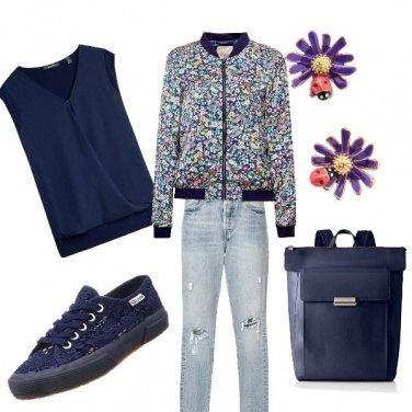 Outfit Fiori fiori fiori blu