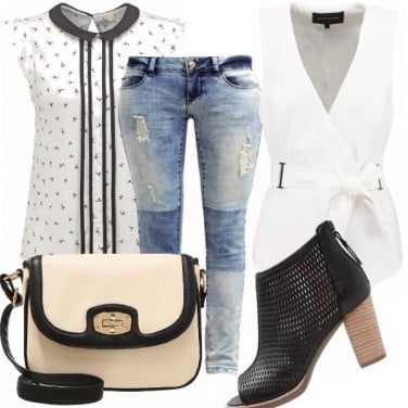 Outfit Black e white!