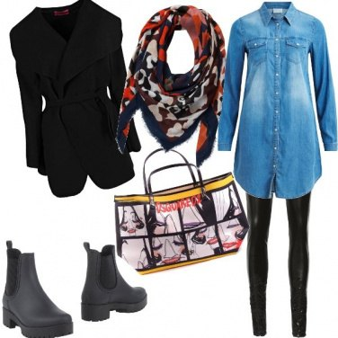 Outfit Jeans rock