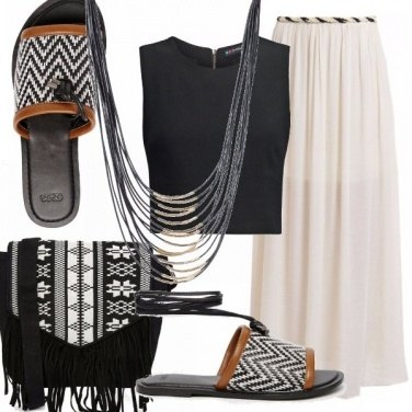 Outfit Flat in bianco e nero
