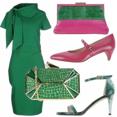 Outfit Verde smeraldo & fuxia