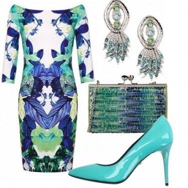 Outfit Armonie di blu e verde