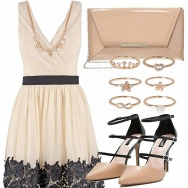 Outfit Cerimonia in beige
