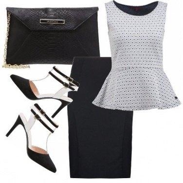 Outfit Un look giocato sul bianco e nero