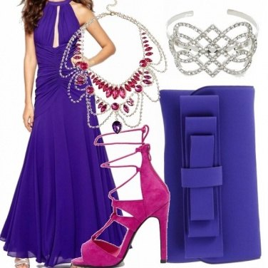 Outfit Divina in viola