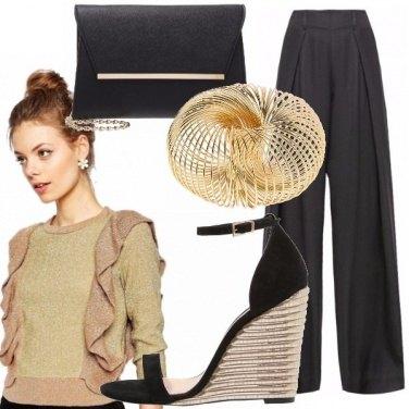 Outfit Nero e sfumature metalliche
