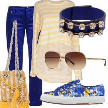 Outfit Bella in blu e giallo!