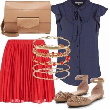 Outfit Bon-ton in rosso e blu