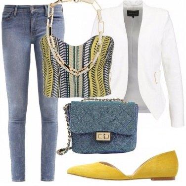 Outfit Skinny e ballerine