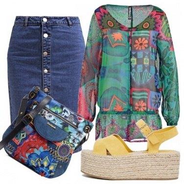 Outfit Jeans e colore!