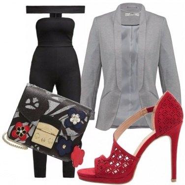 Outfit Jumpsuit e blazer