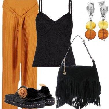 Outfit Frange e pompon