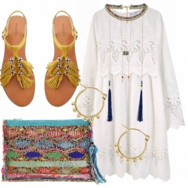 Outfit Embroided dress
