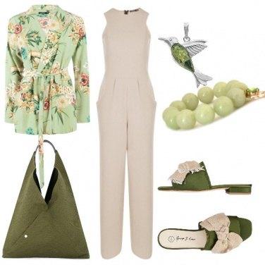 Outfit Beige e verde