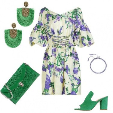Outfit Etnico green