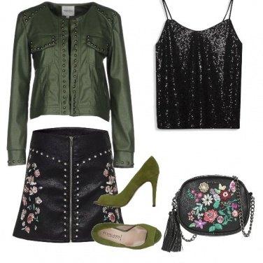 Outfit Fiori verdi