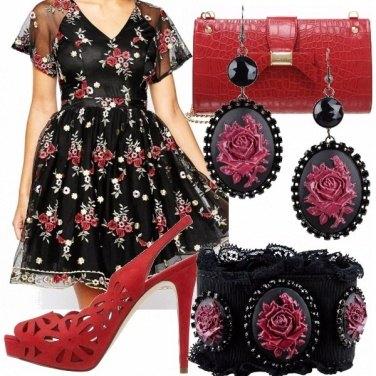 Outfit Vestito folk floreale!