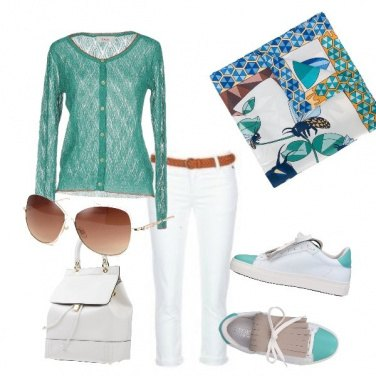 Outfit Primavera nel foulard