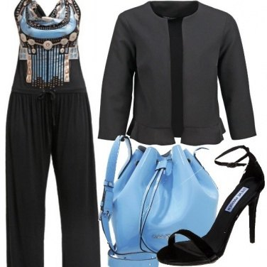 Outfit Nero cielo