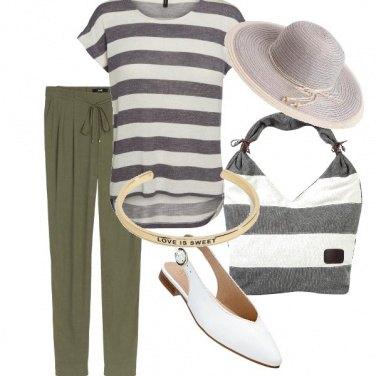 Outfit Righe chic per tutti i giorni