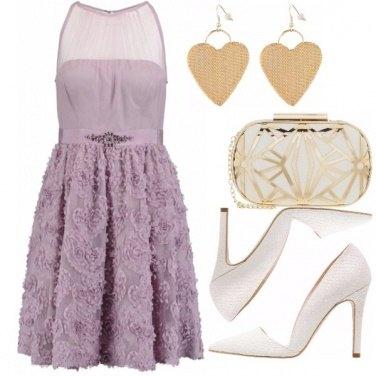Outfit Glicine bianco e oro
