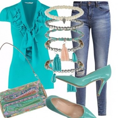Outfit Turchese, ruches e verde acqua!