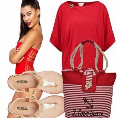 Outfit Rosso anche al mare!