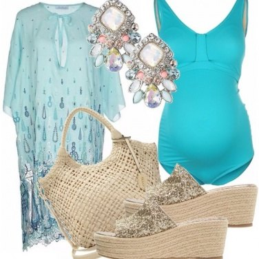 Outfit Premaman chic in spiaggia!