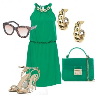 Outfit Verde Oro