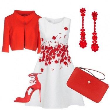 Outfit Rosso cerimonia