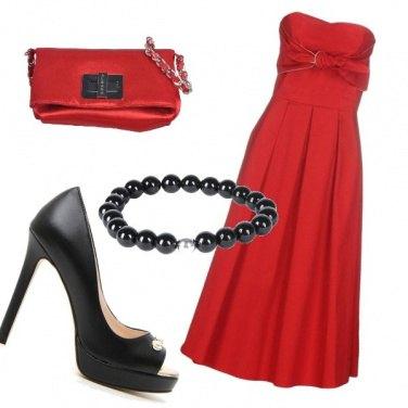 Outfit Elegantemente in rosso