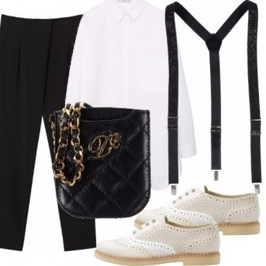 Outfit Mannish, stringate e bretelle!