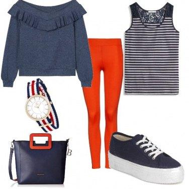 Outfit Leggins rossi