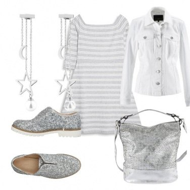 Outfit Adoro l\'argento!