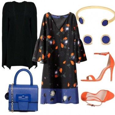Outfit Arancio-blue