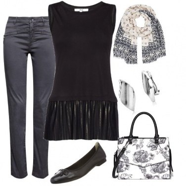 Outfit Elegante con riflessi