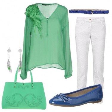 Outfit Una blusa verde