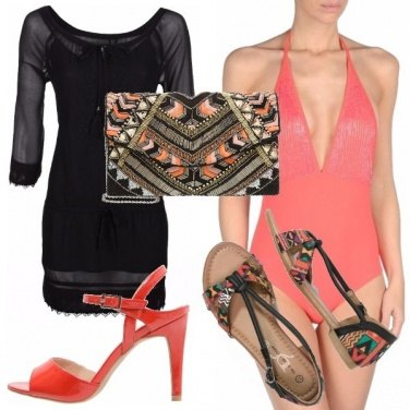 Outfit Tribal pool party