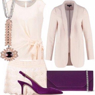 Outfit Rosa cipria e viola