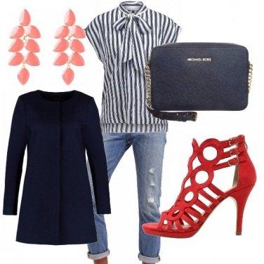 Outfit Rosso e blu, .mi piaci sempre più!