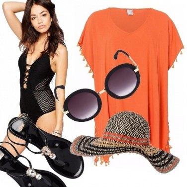 Outfit Orange/black